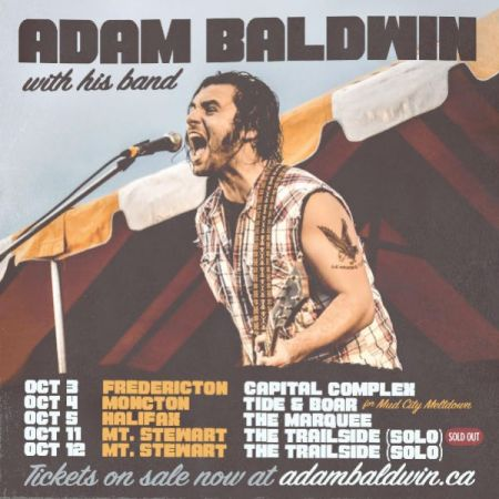 ADAM BALDWIN WITH HIS BAND at The Capital Bar Thu Oct 3 2019 at 8:00 pm