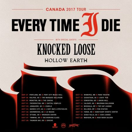 EVERY TIME I DIE at The Capital Complex Sun Oct 1 2017 at 9:00 pm