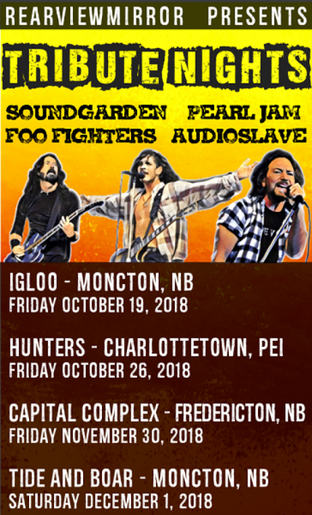 Pearl Jam, Soundgarden, Audio Slave, Foo Fighters Tribute Night at The Capital Bar Fri Nov 30 2018 at 10:00 pm