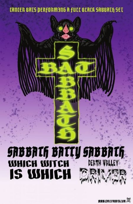 Pre-POP presents: Bat Sabbath: CANCER BATS at The Capital Complex Mon Oct 16 2017 at 9:00 pm